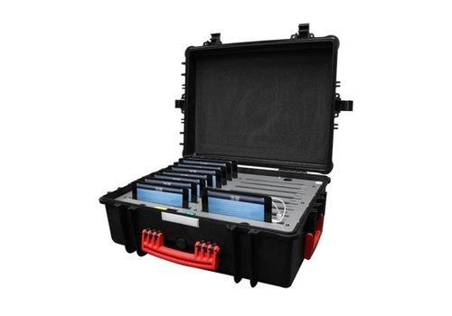"""Parotec-IT charge & sync C34 koffer voor 16 iPad mini en 8"""" tablets zonder en met dunne beschermhoes"""