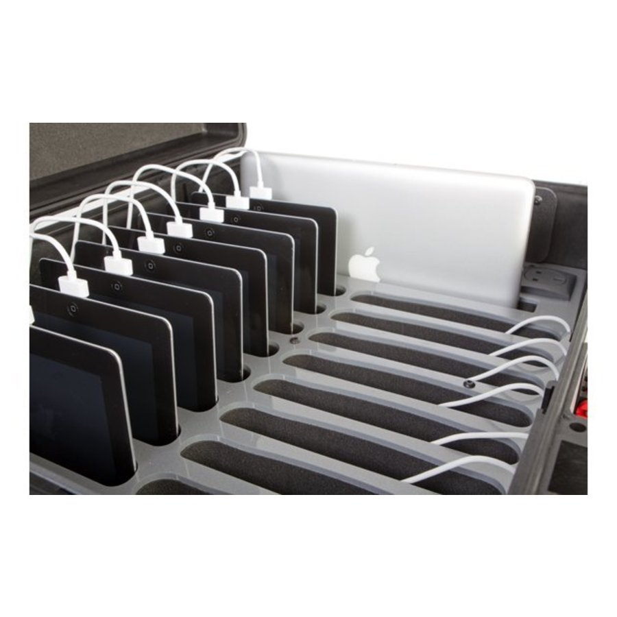 iNsync CL44 opberg, laad, synchronisatie en transport koffer voor maximaal 20 iPads of 10-11 inch tablets