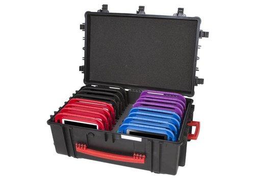 """Parotec-IT charge & sync C18 Koffer fuer 16 iPad mini und 8"""" Tablets ohne und mit schlanke Schutzhuelle"""