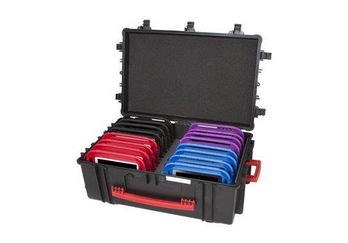Parotec-IT iNsyncC18 opberg, laad, synchronisatieen transport koffer voor maximaal 16 kleine iPad of 7-8 inch tablets