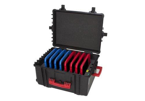 """Parotec-IT charge & sync C61 Koffer fuer 8 iPads und 9""""-11"""" Tablets ohne und mit Schutzhuelle"""