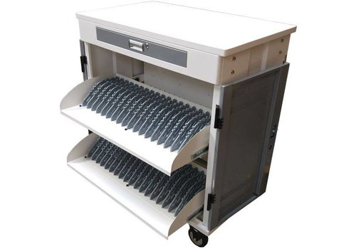 """Parotec-IT charge & sync T40 (T2) cabinet with wheels for 40 iPads, tablets and Notebooks between 10 and 15,6"""""""