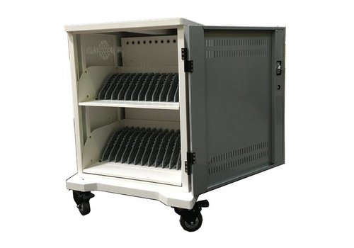"""Parotec-IT charge & sync T24 (T7) cabinet with wheels for 24 iPads, tablets and Notebooks between 10 and 15,6"""""""