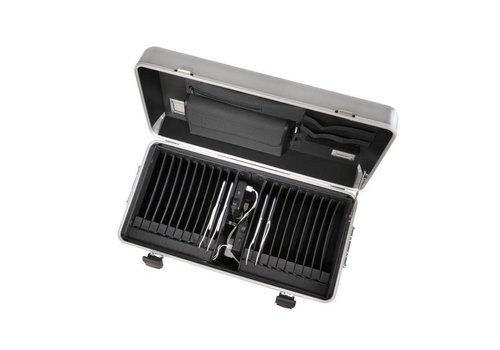 Parat i20 trolley case for tablets with 20 compartments silver