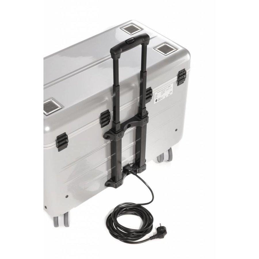 i20; mobiel oplaadstation voor 20 iPad, met compartiment indeling zilverkleur-7