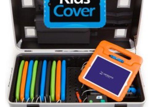 Parat charge & sync i16KC Koffertrolley fuer 16 iPads mit KidsCover einschliesslich lightning Kabels ohne Kompartimentierung silbergrau
