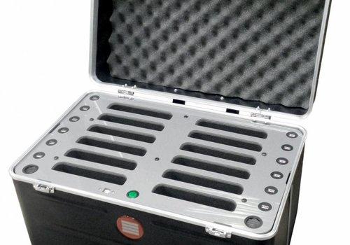 "Parotec-IT charge C457 iPad Transportkoffer mit Ladefunktion fuer 12 iPad mini und Tablets bis 8"""