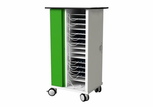 """Zioxi charge cabinet with wheels for 16 iPads and tablets up to 11"""""""