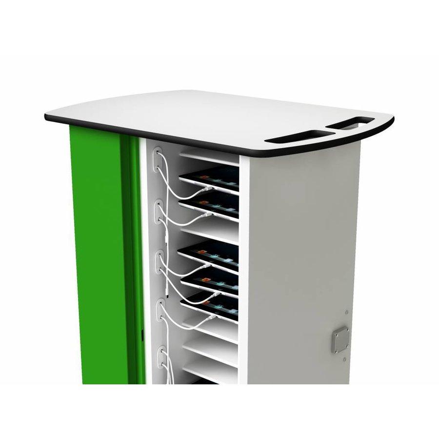 afsluitbare oplaadkar voor 16 iPads en/of tablets met normale hoezen-4
