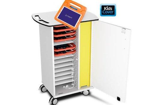 Zioxi laadkast met wielen voor 15 tablets in kinderhoezen