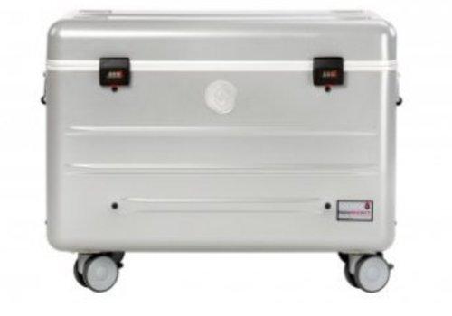 Parat charge N10 trolley koffer met 10 vakken in het zilvergrijs