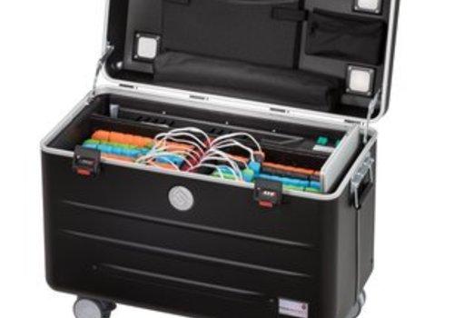 Parat charge N6 Systemkoffer mit Rollen  mit 6+6 Einschubfaecher schwarz