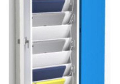 """Zioxi Ladeschrank Wandbefestigung mit USB connectors fuer 10 iPads und 9""""-11"""" Tablets"""