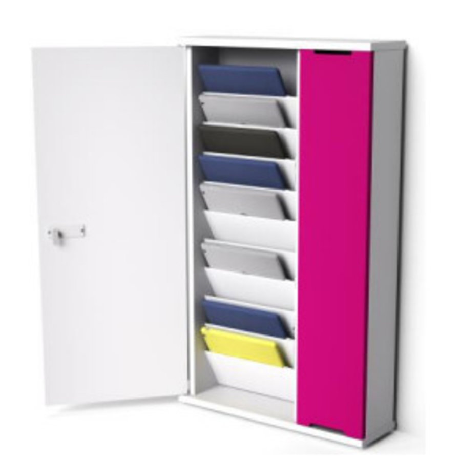Wandschränke zum laden von bis zu 10iPads mit USB - Tabletdockshop