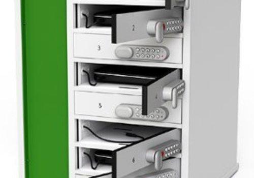Zioxi Ladeschrank für Laptops mit 8 Ablagefächer individuell abschliessbar