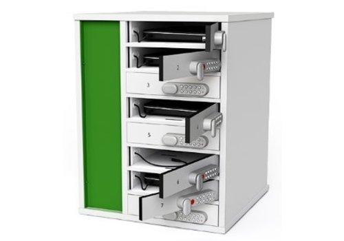 Zioxi Ladesafe für 8 Laptops, separate verschließbare Fächer