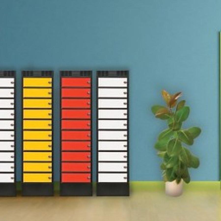 Leba Note Locker 8 oplaad- en opbergkast met 8 afzonderlijke, afsluitbare en opbergruimtes