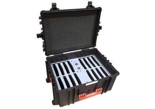 Parotec-IT charge & sync C80 Auto-docking Koffer 16 iPads und Tablets in einem Koffer mit Schutzhuelle