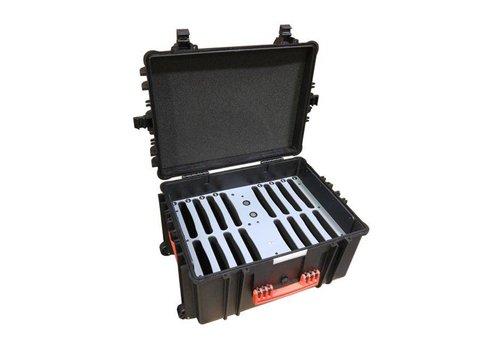 Parotec-IT charge & sync C80 Auto-docking koffer 16 iPads en tablets in een koffer met beschermhoes