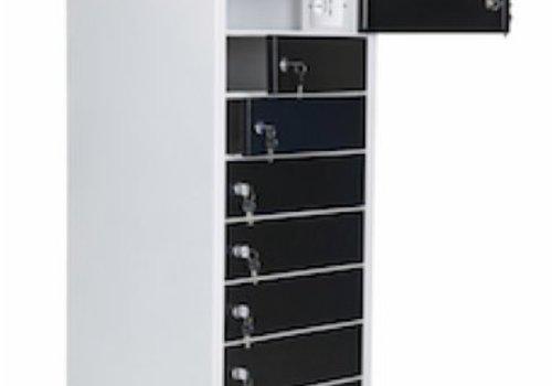 """Parotec-IT charge Spinde 10 Einschubfaecher fuer Chromebooks/ Macbooks/ Notebooks/ Tablets bis zu 15,6"""""""