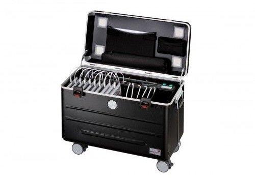 Parat charge & sync U16S trolley koffer voor tablets in het zwart