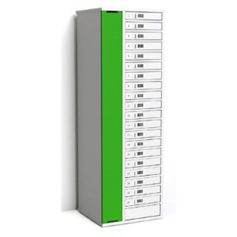 """Laadkast met 20 afzonderlijk afsluitbare vakken voor tablets en iPads tussen 9""""-11""""-5"""