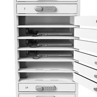 BYOD oplaadlocker 1:1 laptop/tablets 16 afzonderlijk afsluitbare vakken met stopcontact