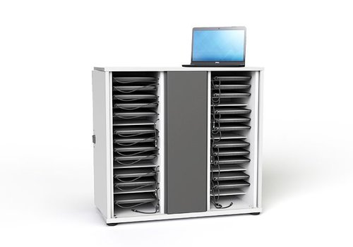 """Zioxi Ladeschrank abschließbar für 32 Chromebook Macbook Laptop Tablet bis 14"""""""