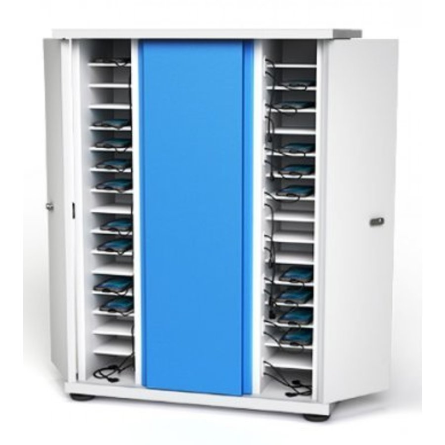 Lockable Storage And Charging Cabinet For Up To 40 Iphone Ipod Smartphone Devices
