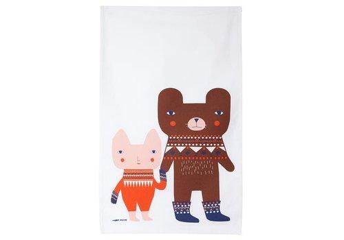 Donna Wilson Bear friends tea towel