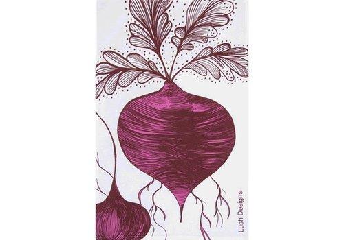 Lush Designs Theedoek Rode biet