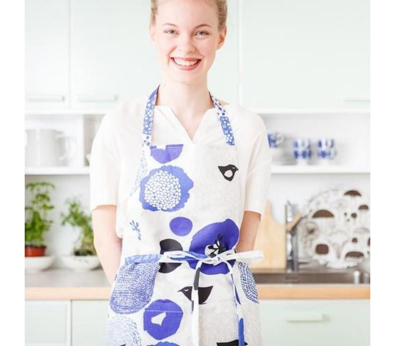 keukenschort blauwe bloemen Sunnuntai