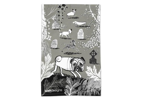 Lush Designs Dogs Tea Towel