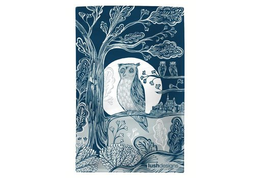 Lush Designs Owl Tea Towel
