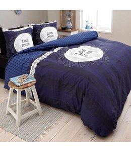 Dreamhouse Bedding Love of Dream Navy Dekbedovertrek
