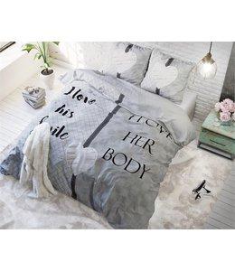 Sleeptime What Do You Love Dekbedovertrek Grijs