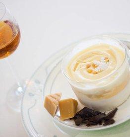 dessertglaasje purofondente-chocolade met licht geconfijte sinaasappel