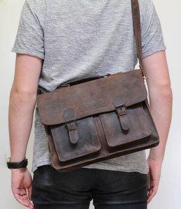 Bear Design Vintage Aktentasche SW30984