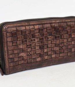 Bear Design Geldbörse CL13994 geflochten Braun