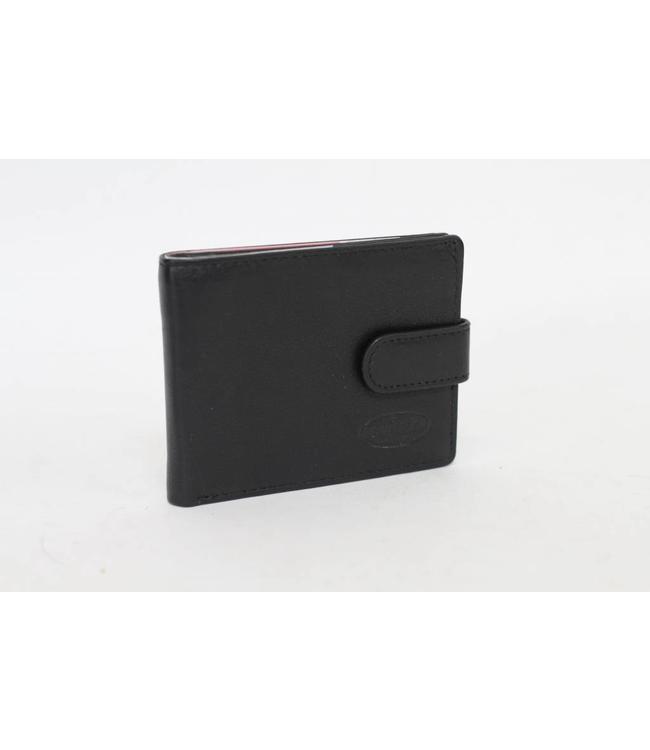 Bear Design Leder Kartenetui RO526 Schwarz