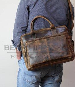 Bear Design Laptoptas Cognac VG32357