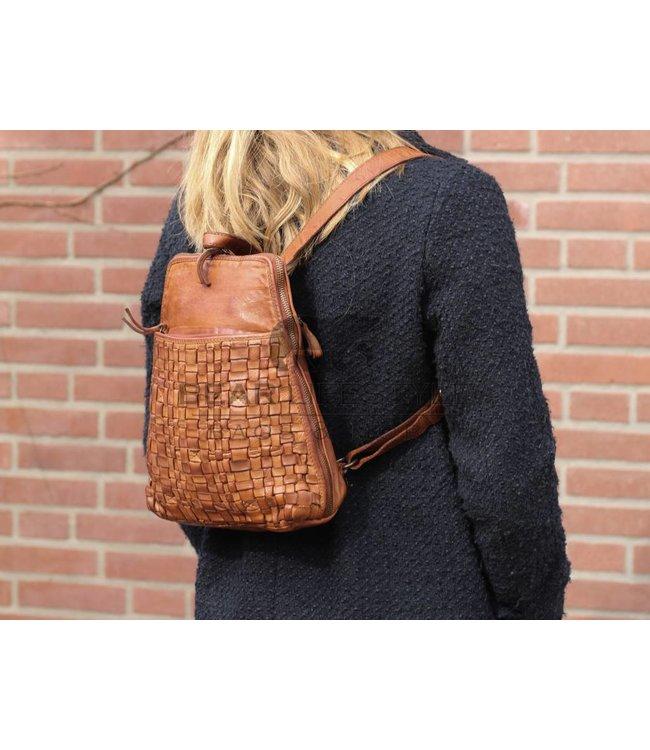 Bear Design Rucksack CL32684 Cognac Woven