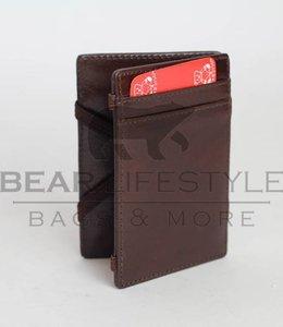 Bear Design Magic Wallet Donkerbruin