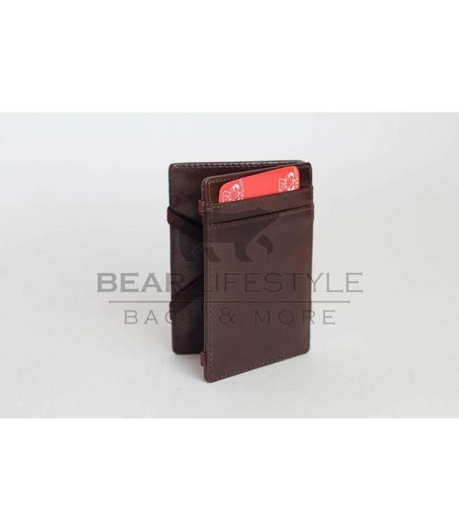 Bear Design Magic Wallet Dunkelbraun
