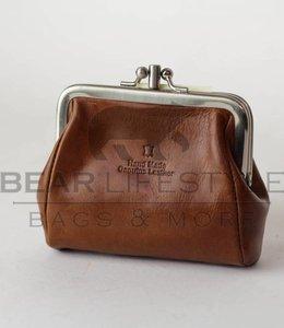 Bear Design Bügelportemonnaie RO9924 Cognac
