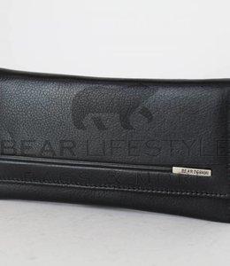 Bear Design Anti-skim Dames Overslag portemonnee QN14252 Zwart