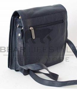 Bear Design Schoudertasje met flap 'Aafke' Blauw B6266