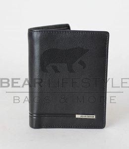 Bear Design Anti-Skim Portemonnaie QN9744 Schwarz