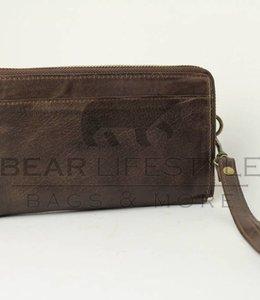 Bear Design Ritsportemonnee GR9865 Donkerbruin