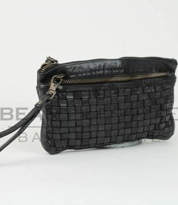 Bear Design Clutch / Geldbörse Tasche CL13997 Schwarz